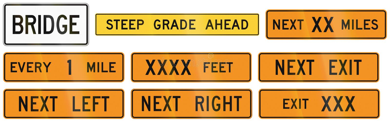 用于美国弗吉尼亚州的路标 库存例证