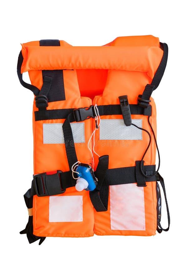 用于近海油和煤气产业的救生衣 免版税图库摄影