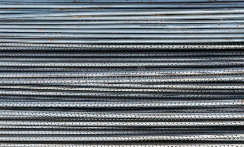 用于建筑的生锈的钢筋钢 免版税库存图片