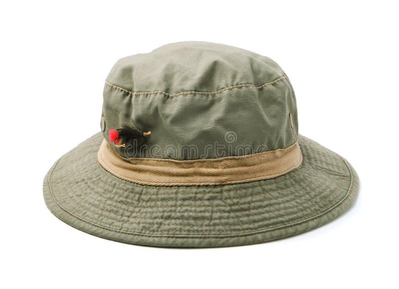 用假蝇钓鱼帽子 库存照片