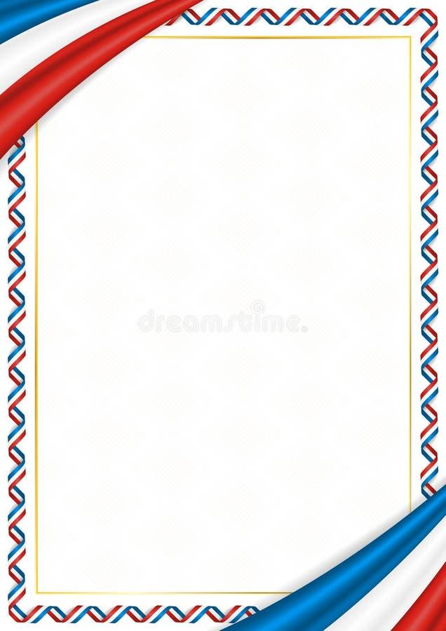 用克里米亚全国颜色做的边界 库存例证