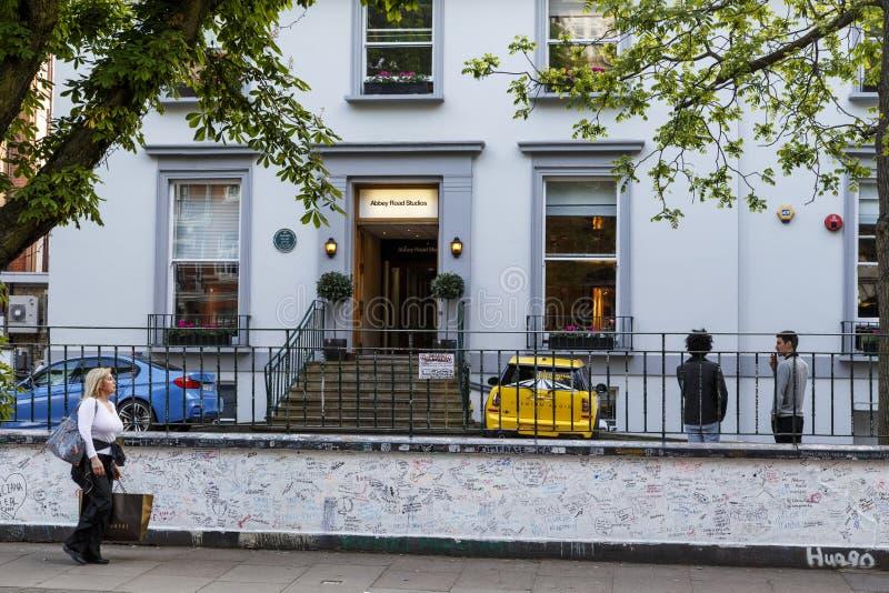用功修道院的路,伦敦 免版税库存照片