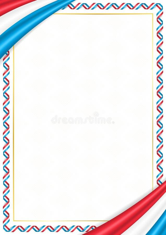 用卢森堡全国颜色做的边界 向量例证