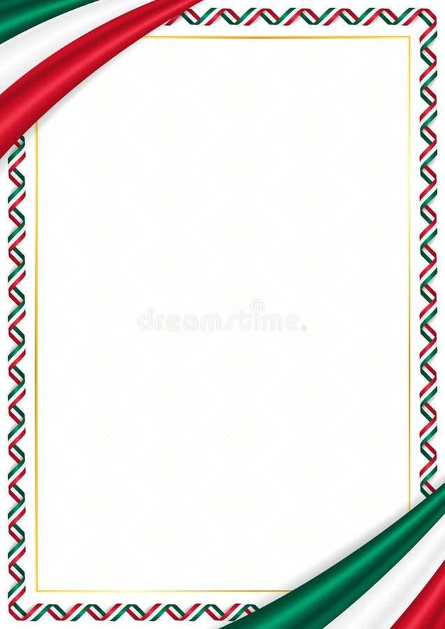 用墨西哥全国颜色做的边界 皇族释放例证