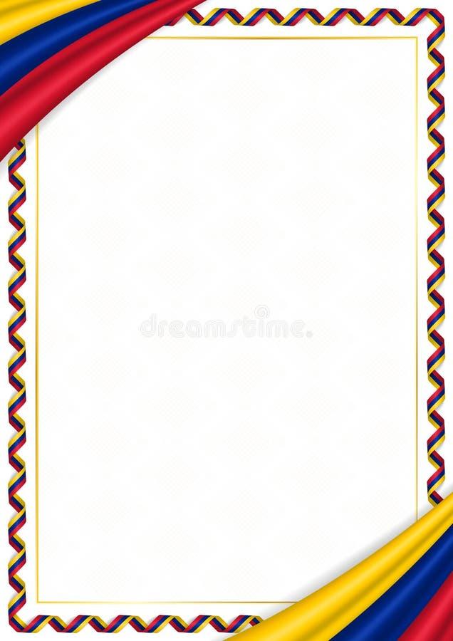 用委内瑞拉全国颜色做的边界 皇族释放例证