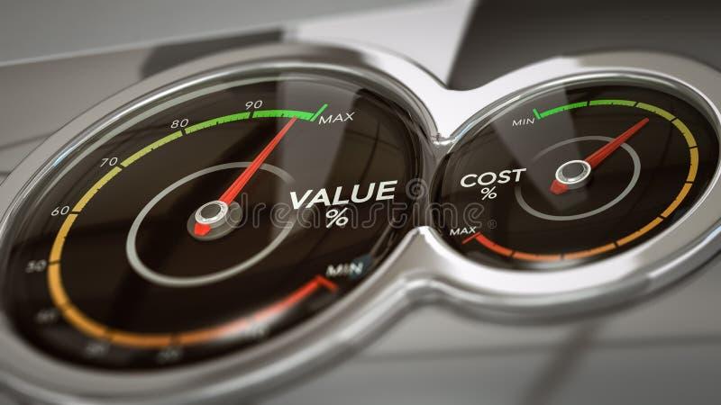 费用对价值分析 库存例证