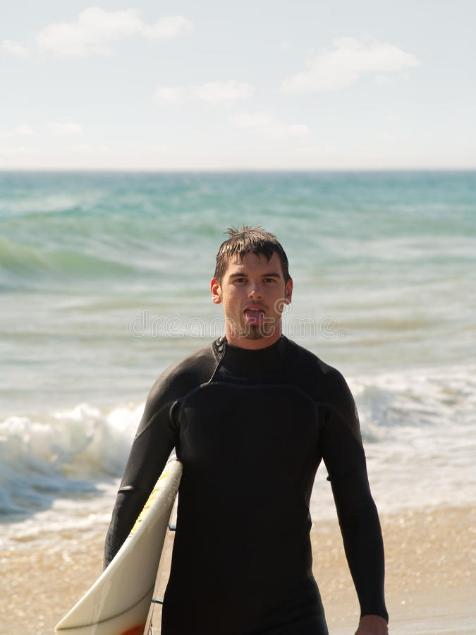 用尽的会议冲浪者 免版税库存图片