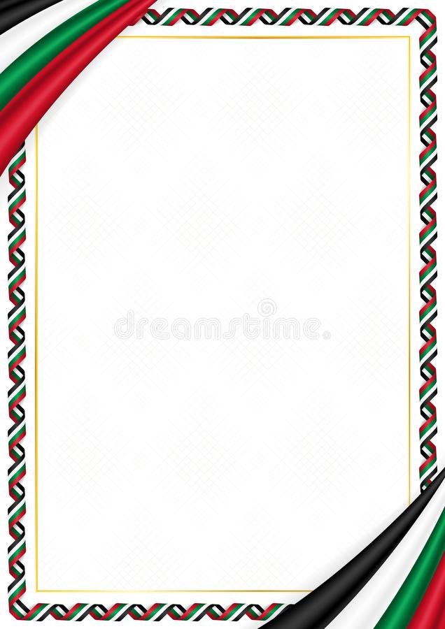 用巴勒斯坦全国颜色做的边界 向量例证