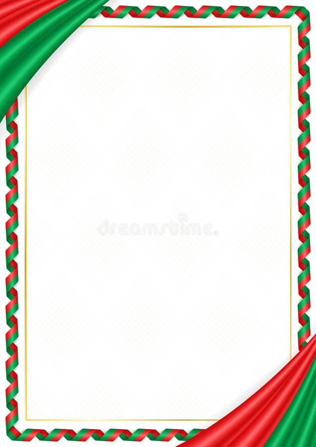用布基纳法索全国颜色做的边界 库存例证