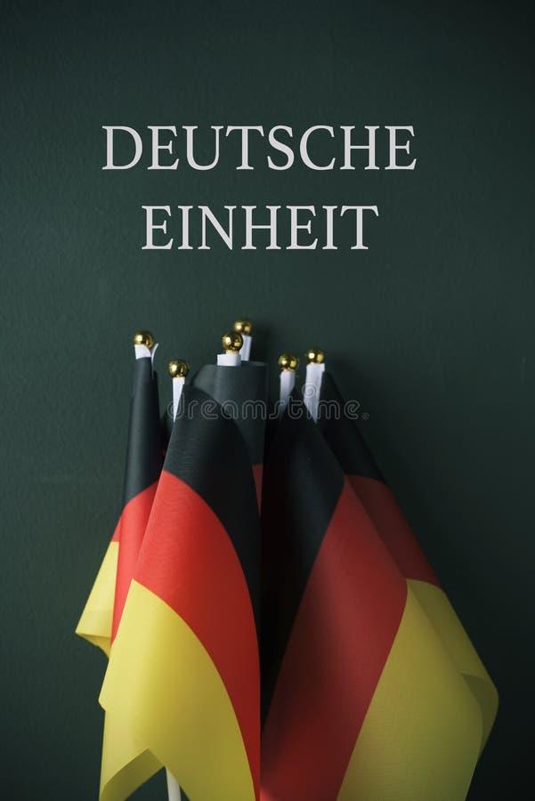 用德语写的文本德国团结 库存照片