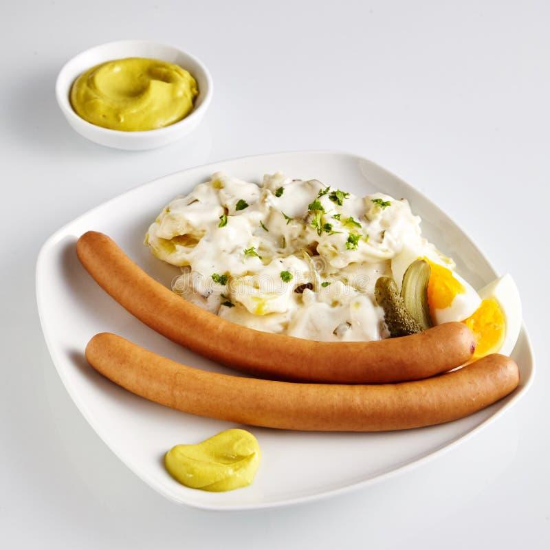用德语叫的土豆沙拉:Kartoffelsalat 图库摄影