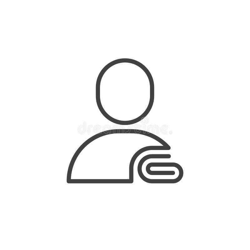 用户信息线象 向量例证