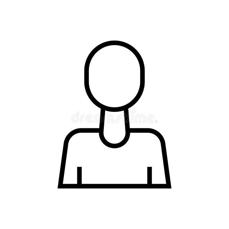 用户具体化象在白色背景和标志隔绝的传染媒介标志,用户具体化商标概念 向量例证