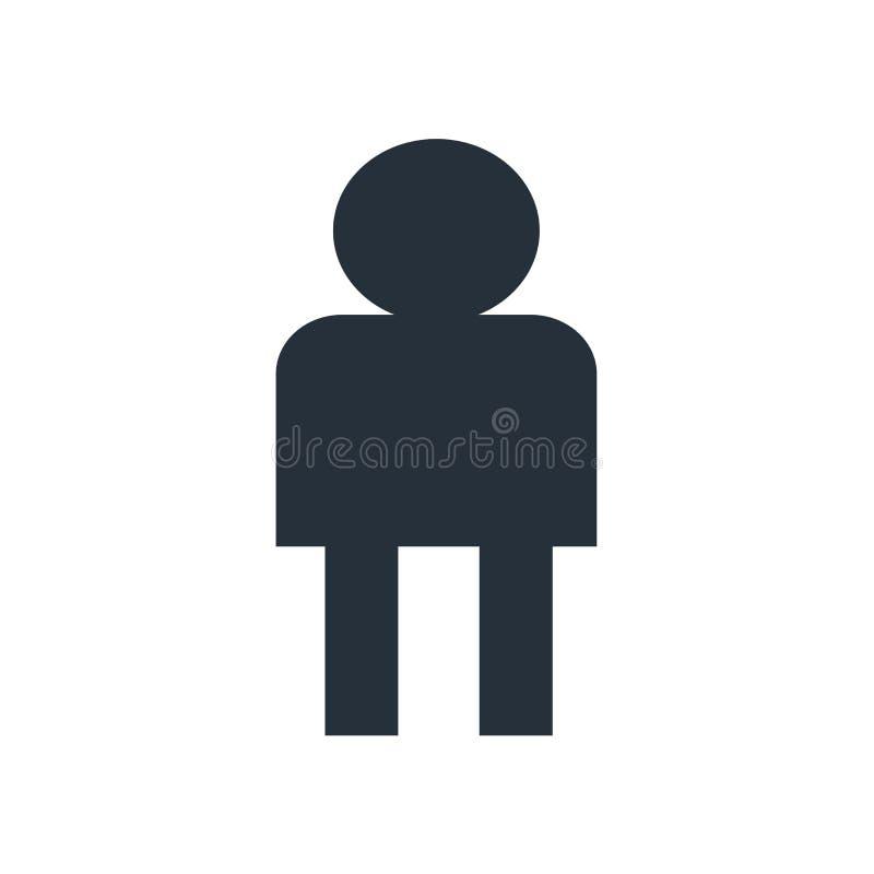 用户具体化象在白色背景和标志隔绝的传染媒介标志,用户具体化商标概念 皇族释放例证