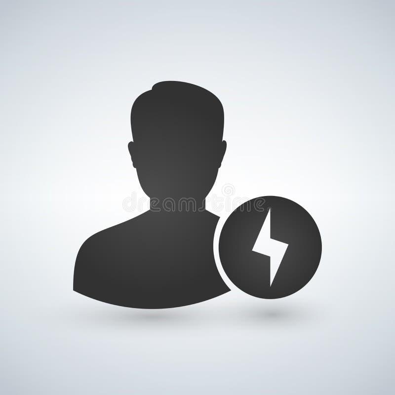 用户具体化闪光标志象 一刹那象,闪电 轻的符号 闪电例证 抽象设计图表元素 向量例证
