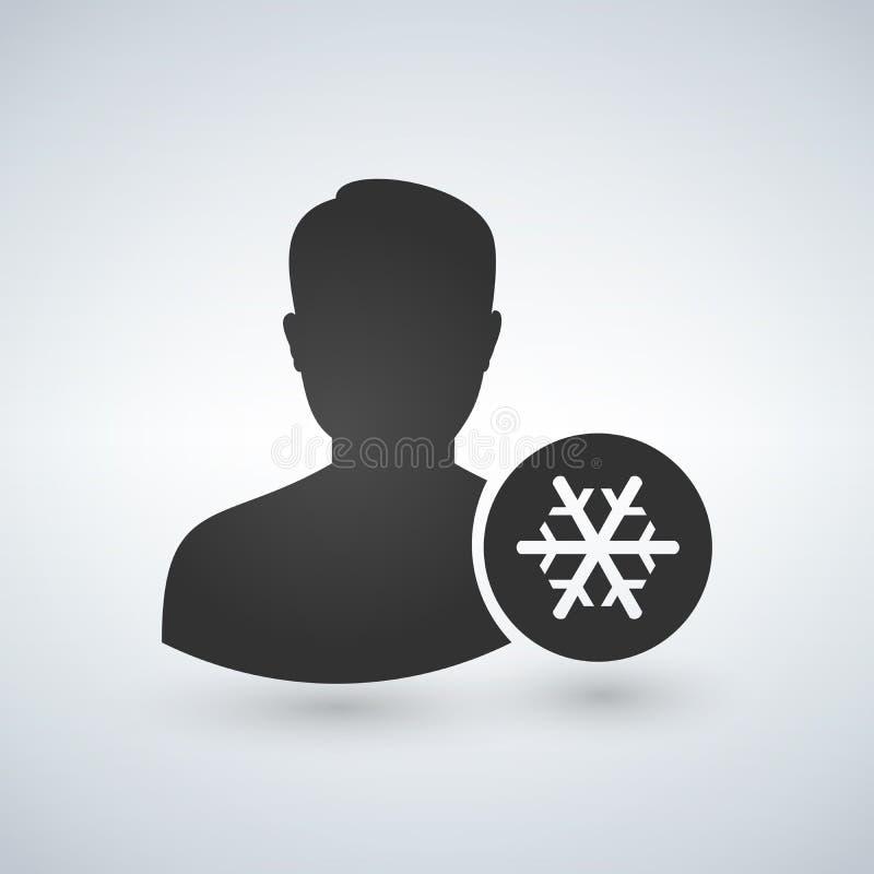 用户具体化雪花象 也corel凹道例证向量 向量例证