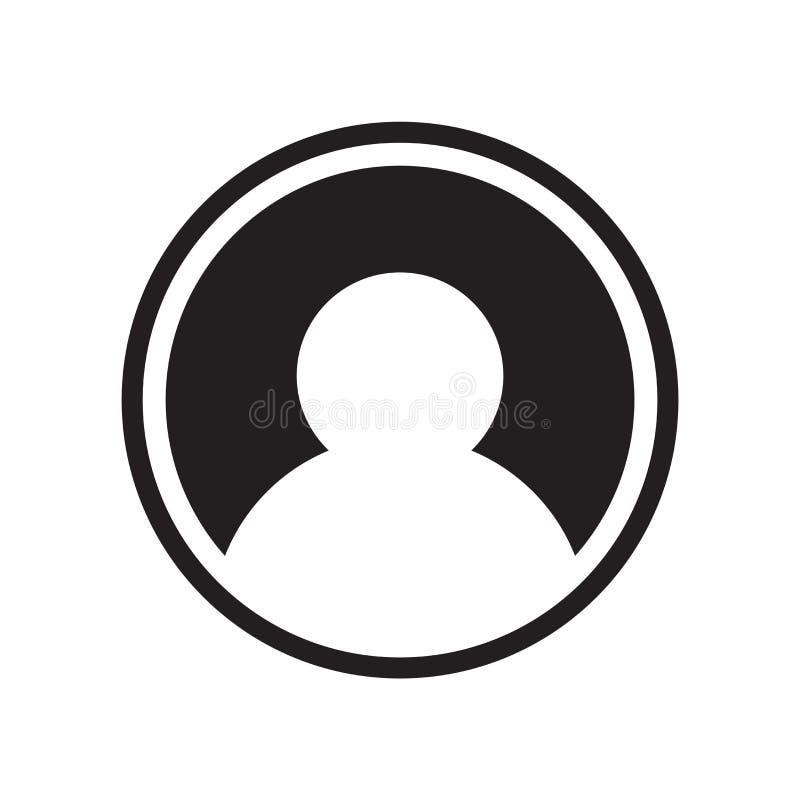 用户在白色背景隔绝的象传染媒介,用户标志 库存例证