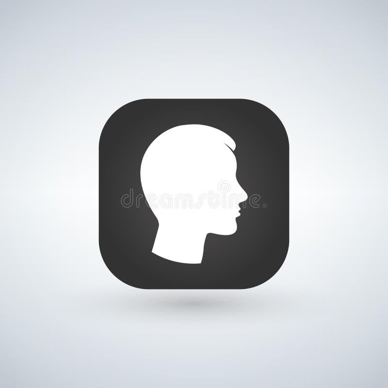 用户在app按钮的标志象 人标志 人的具体化 平的样式 例证 皇族释放例证