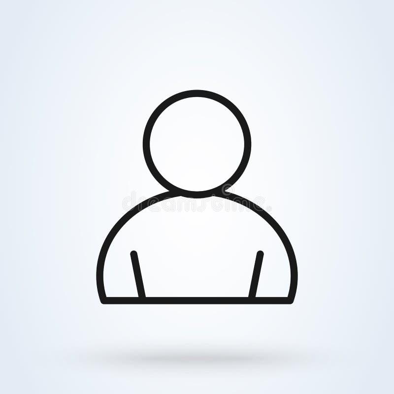 用户概述简单的传染媒介现代象设计例证 库存例证