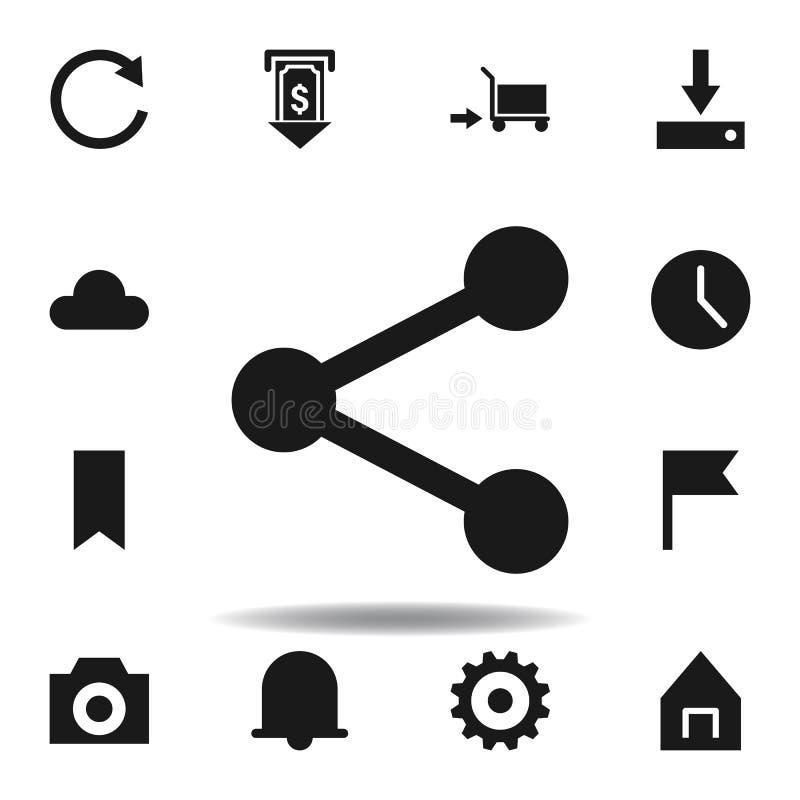 用户网站份额象 设置网例证象 标志,标志可以为网,商标,流动应用程序,UI,UX使用 库存例证