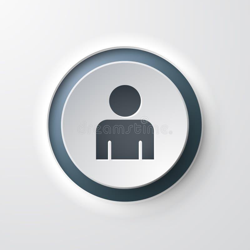 用户网象按钮 皇族释放例证