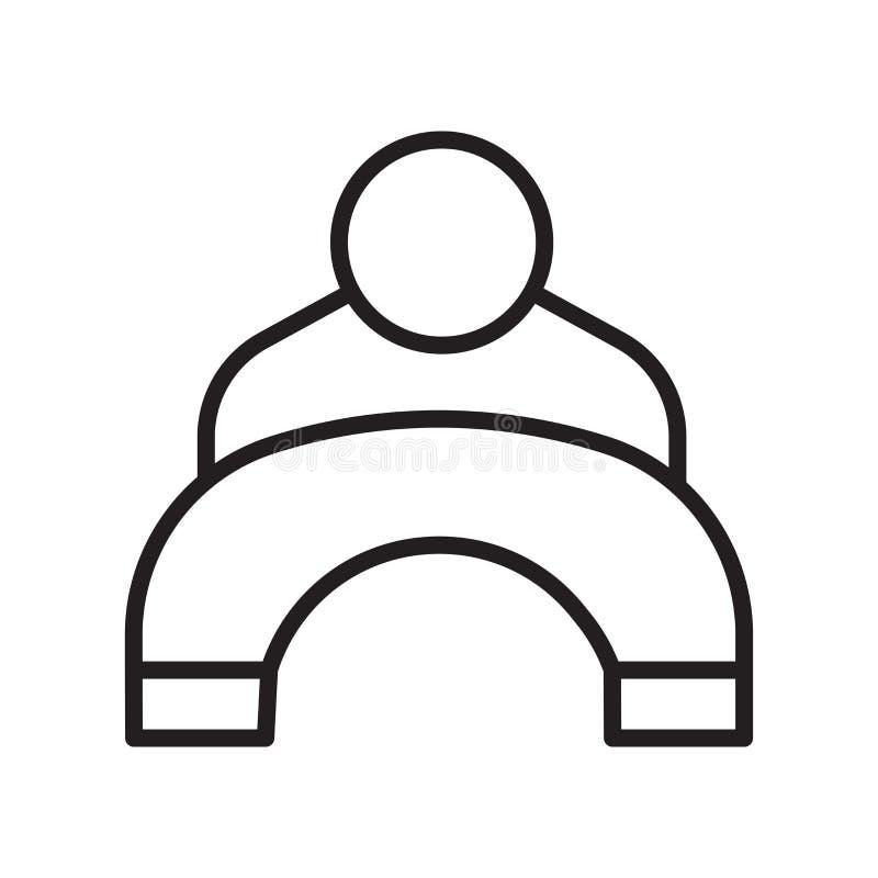 用户象在白色背景和标志隔绝的传染媒介标志,用户商标概念,概述标志,线性标志 向量例证