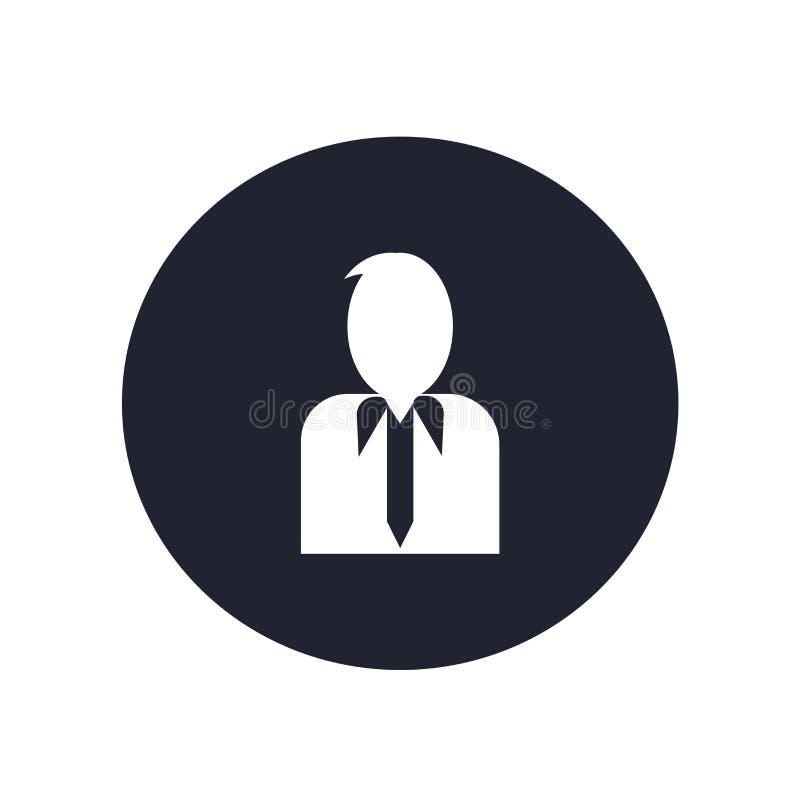 用户象在白色背景和标志隔绝的传染媒介标志,用户商标概念 皇族释放例证