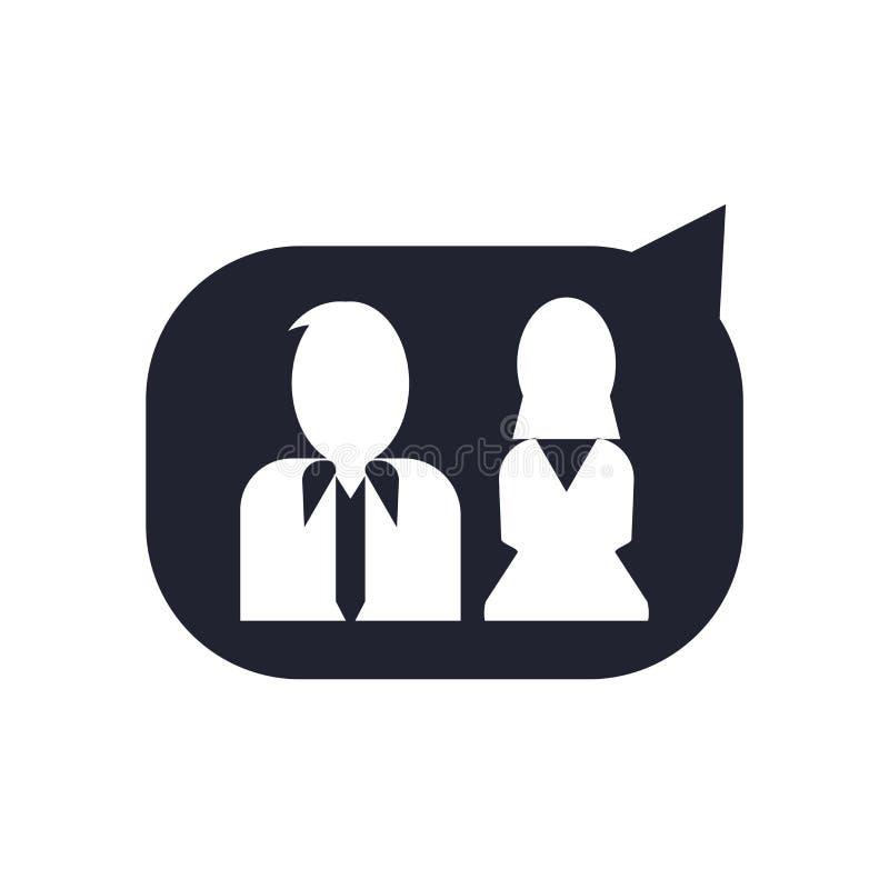 用户象在白色背景和标志隔绝的传染媒介标志,用户商标概念 向量例证