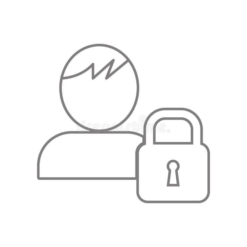 用户象,锁象 网的元素流动概念和网应用程序象的 r 库存例证