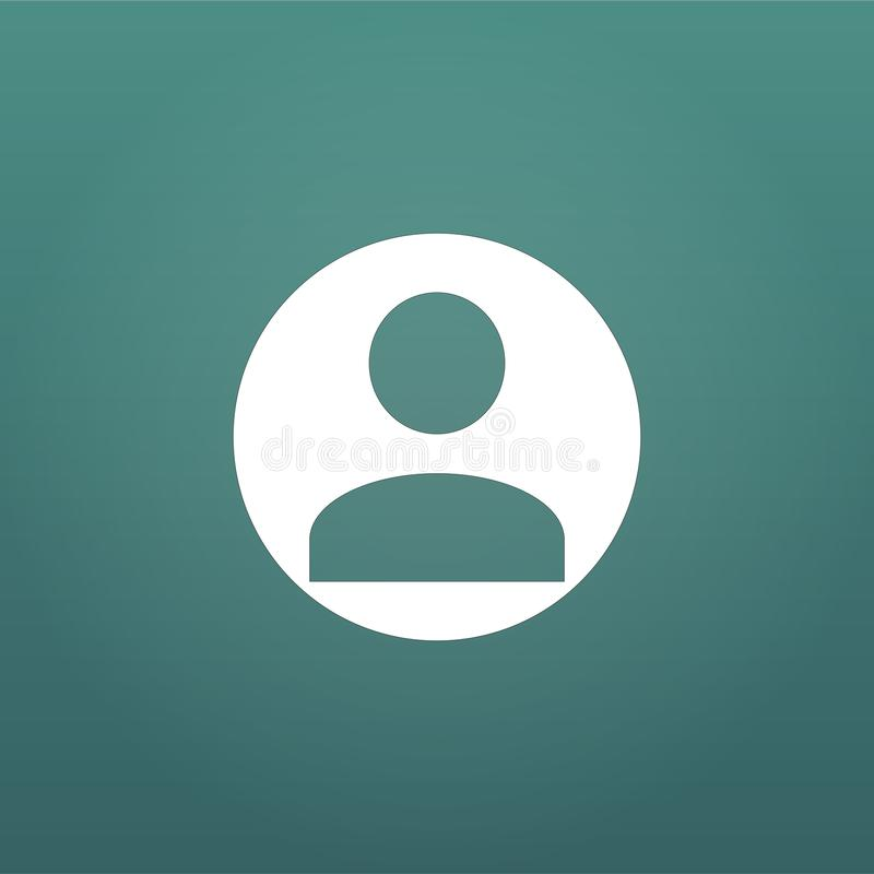 用户象 人的人标志 具体化注册标志 在现代背景隔绝的传染媒介例证 库存例证