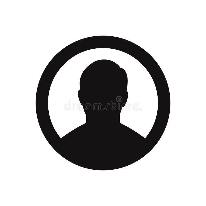 用户象 外形,用户,人,在白色背景的人标志 向量例证