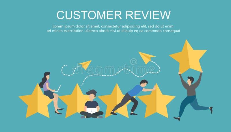 用户额定值 表现的最佳的估计,五点比分  人事假反馈和评论 库存例证