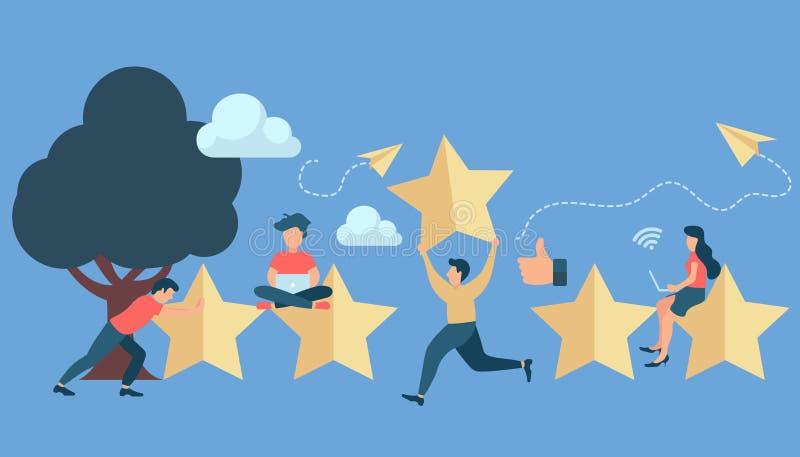 用户额定值 表现的最佳的估计,五点比分  人事假反馈和评论 皇族释放例证