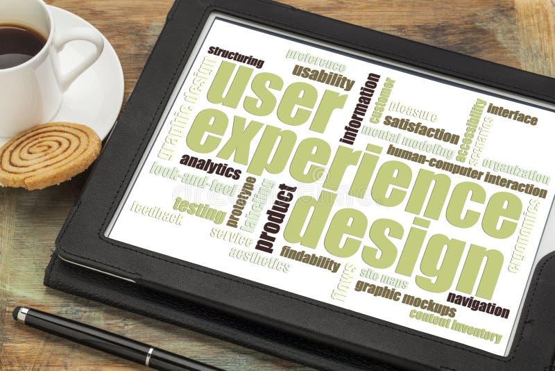 用户经验设计观念 免版税库存照片