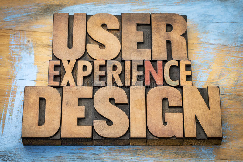 用户经验设计词摘要 库存照片