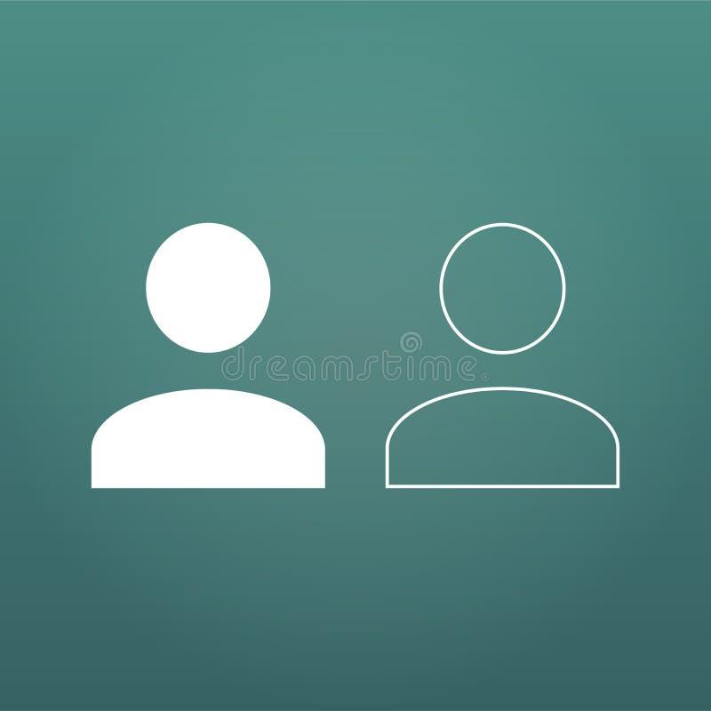 用户flatand线性象 人的人标志 具体化注册标志 在现代背景隔绝的传染媒介例证 皇族释放例证