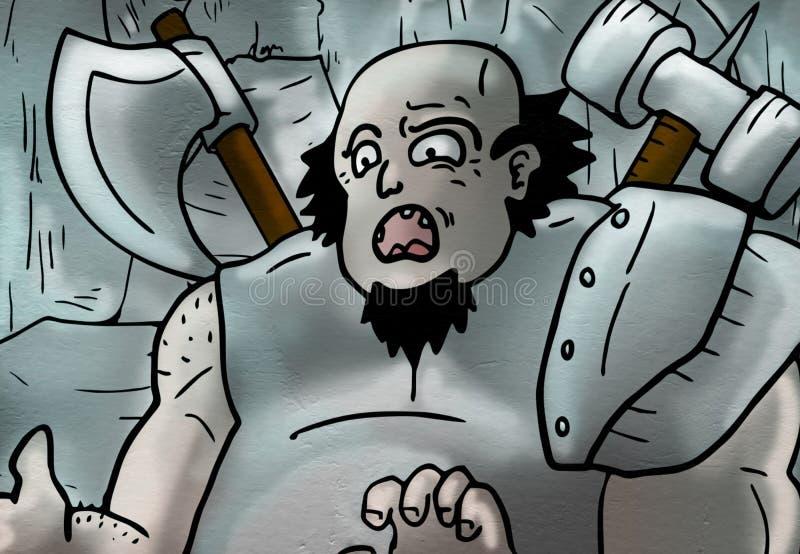 用手画有想象力的卡通人物 向量例证