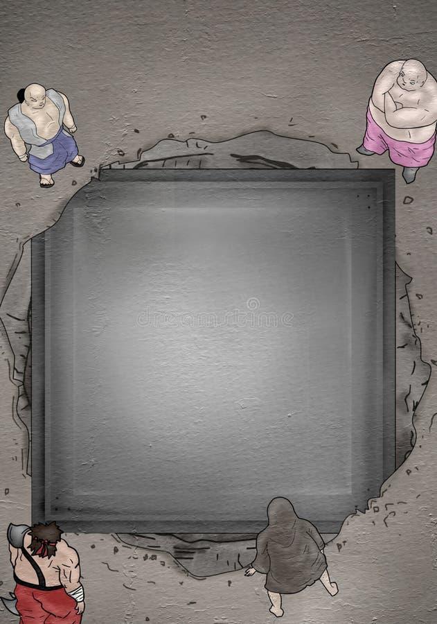 用手画有想象力的卡通人物 库存例证