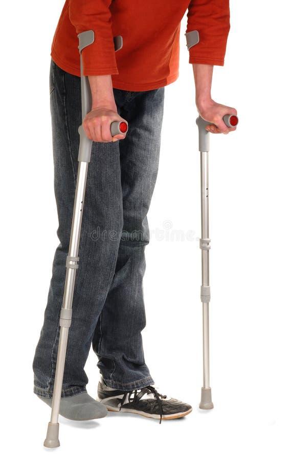 用拐杖支持人员 免版税库存图片