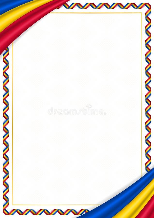 用摩尔多瓦全国颜色做的边界 库存例证