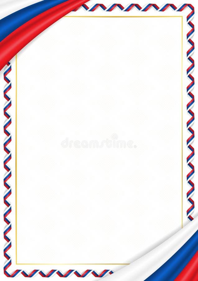 用斯洛伐克全国颜色做的边界 库存例证