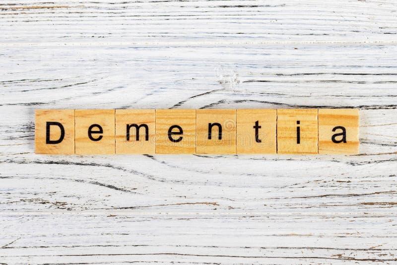 用木块概念做的老年痴呆词 图库摄影