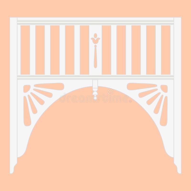 用木材建造曲拱室外白色塑料,木现实传染媒介 皇族释放例证