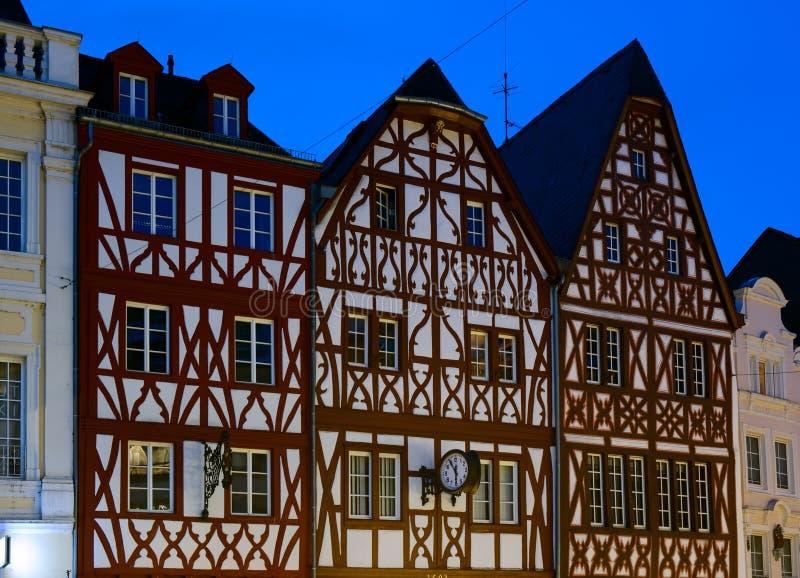 用木材建造的欧洲半房子 库存照片