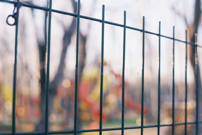 用栏杆围在阳光下 免版税库存照片