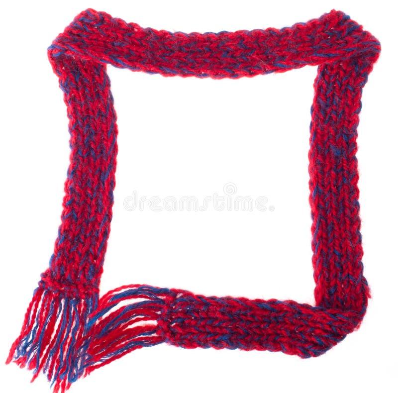 用温暖的围巾做的框架 免版税库存图片