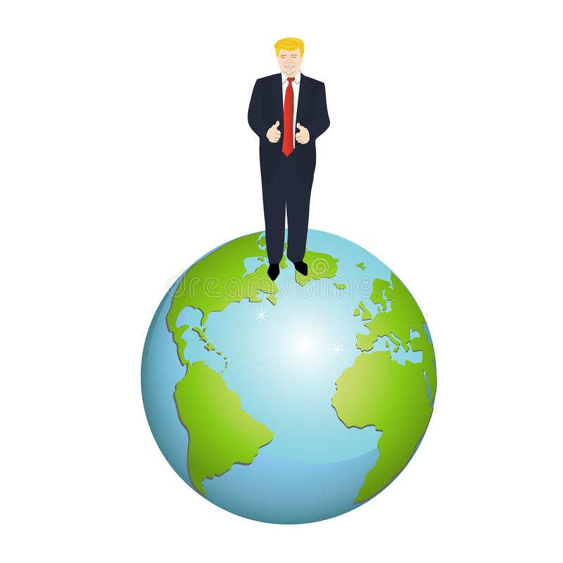用王牌取胜在白色背景的地球地球 皇族释放例证