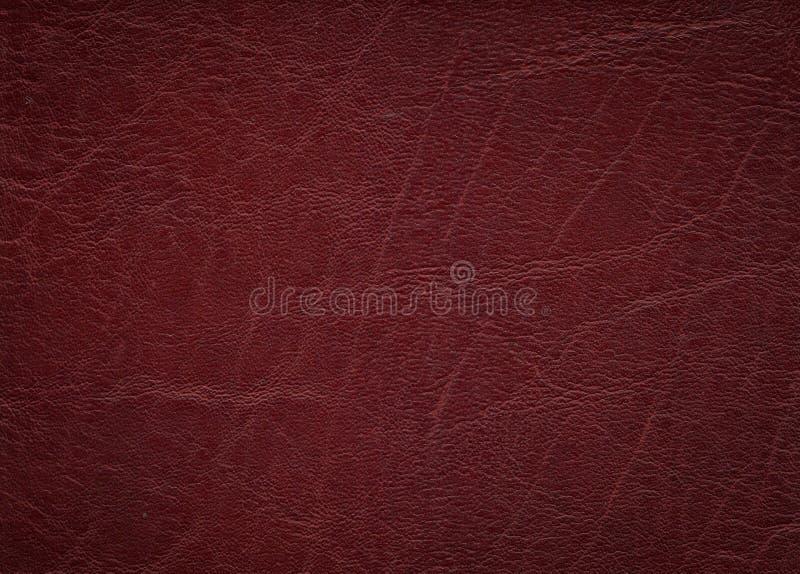 用皮革包盖红色纹理 免版税库存照片