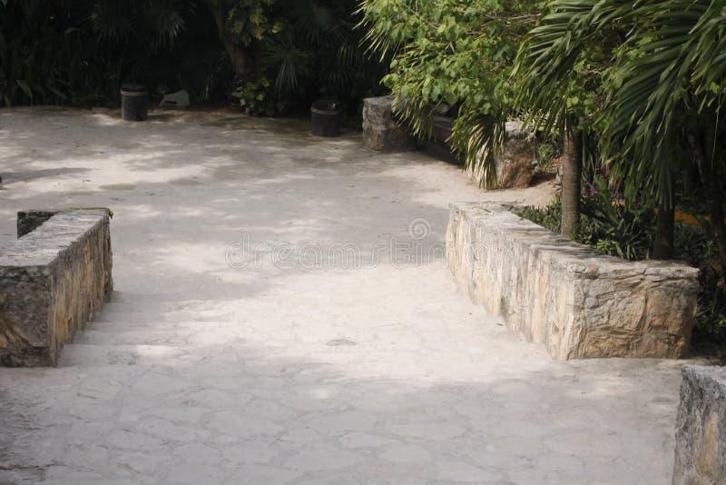 用石头做的方式在Tulum,墨西哥 图库摄影
