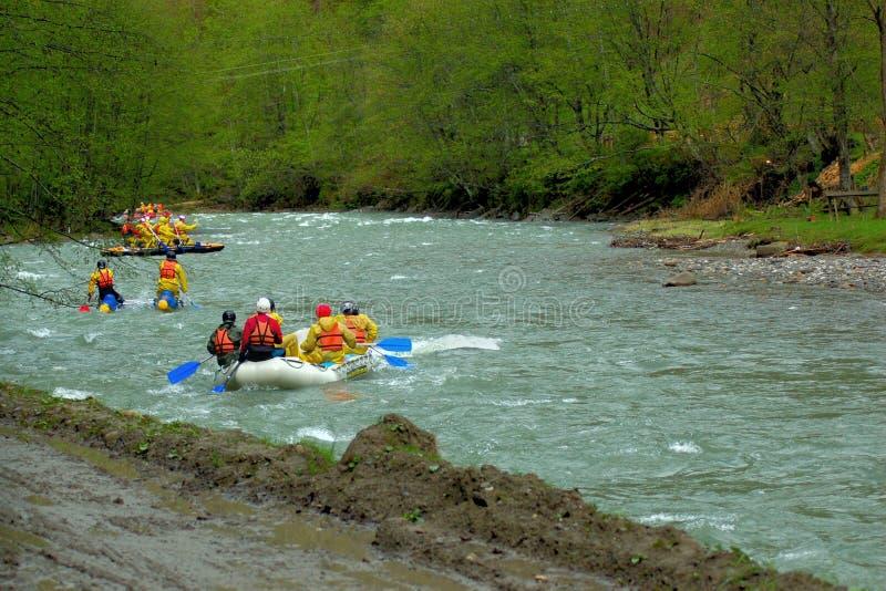 用筏子运送小组 免版税图库摄影